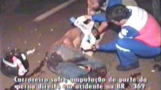 Carroceiro sofre amputação da perna em Londrina - PR