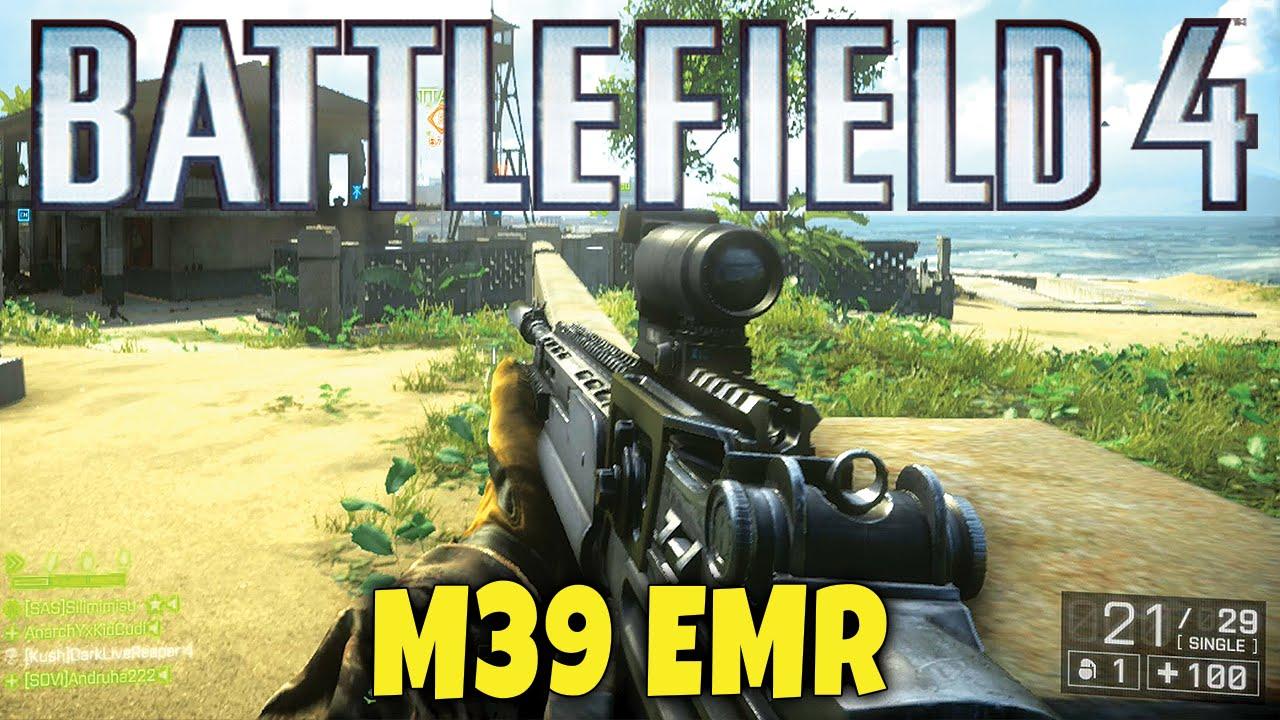 Battlefield 4 - M39 EMR DMR Gameplay - BF4 Nansha Strike Naval Strike DLC