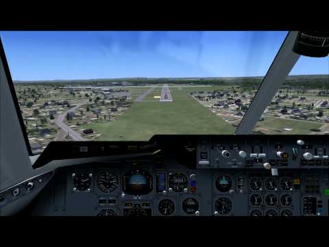 HD FSX FedEx DC-10 Landing at Bradley International Airport