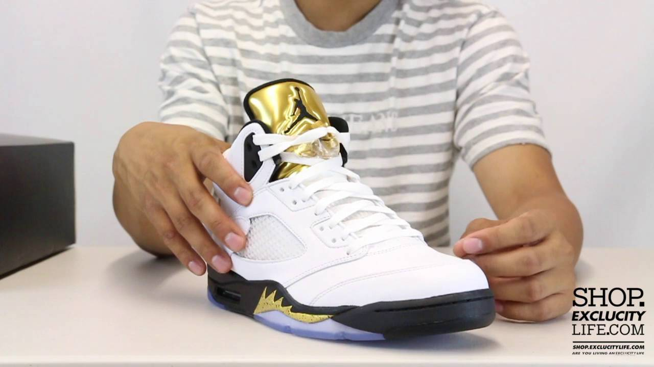 best authentic a5b76 0a3b8 Air Jordan 5 Retro Metallic Gold Coin White Unboxing Video at Exclucity -  YouTube