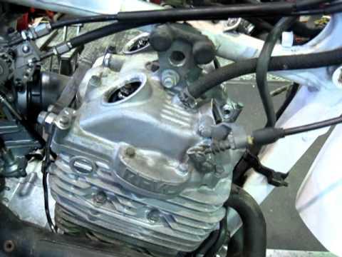 hagi HONDA XR600 engine valve clearance adjust - YouTube