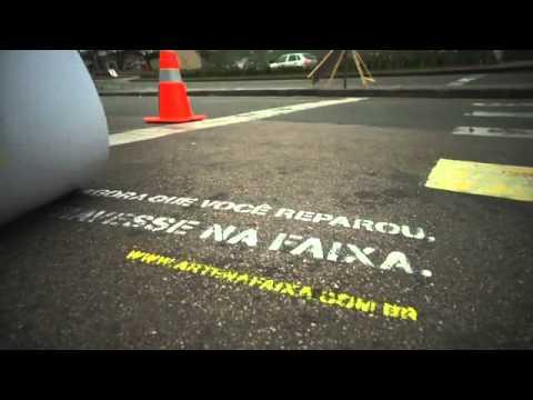 Curitiba City Hall: Crosswalk Art