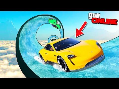 Эта машина лучше и быстрее Теслы..? ЗИМНИЙ ДРИФТ НА ЭЛЕКТРО ТАЧКАХ В GTA 5 ONLINE (Porsche Taycan)