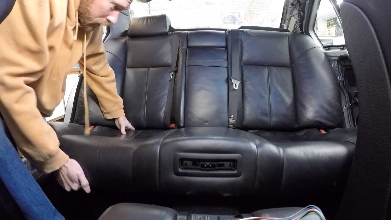 bmw e38 740i rear seat parcel shelf removal how to [ 1280 x 720 Pixel ]