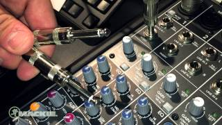 Mackie Mixer basics - Channel insert