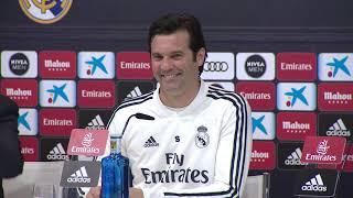 Rueda de prensa del entrenador del Real Madrid, Santiago Solari, antes del derbi