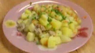 Тушёный картофель с мясом - видео рецепт