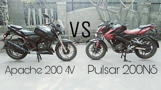 PULSAR 200NS VS APACHE RTR 200 4V | 2017