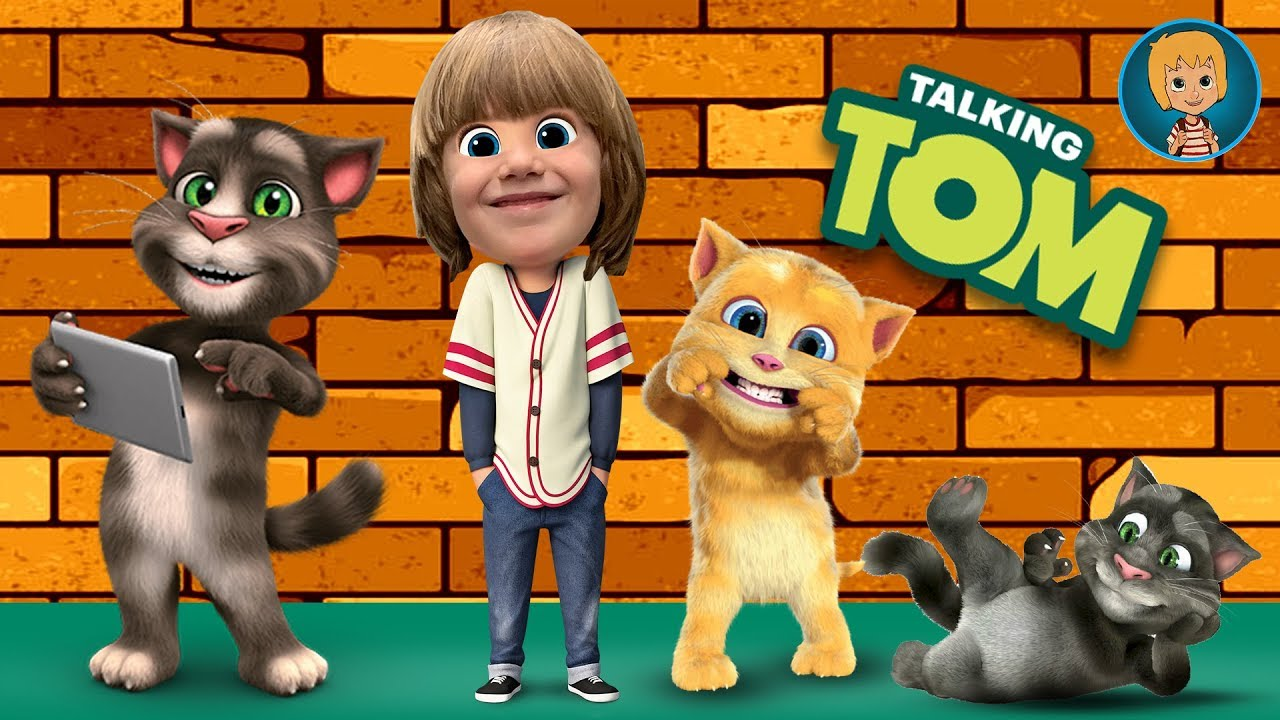 TalKing Tom Cat funny videos in english Kids Babies Game - GERTIT vs Tom Cat Screaming