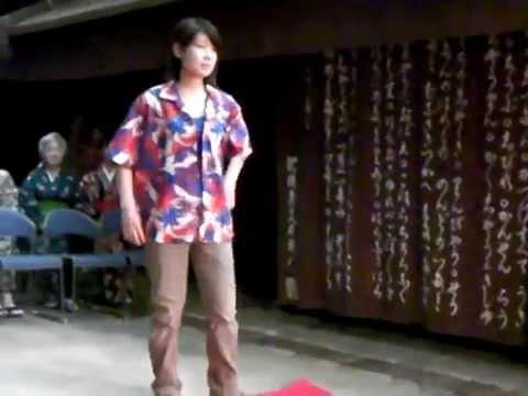 Muslin Kimono fashon show in Osaka Museum of Housing and Living