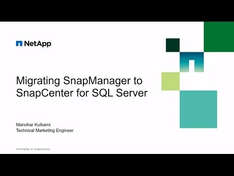 Migrating SnapManager SQL Server To SnapCenter