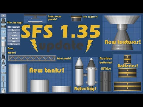 Spaceflight Simulator 1.35 Update!!! Batteries, Ion engines, File sharing, Refueling & Much more!