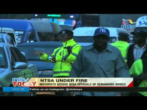 Motorists accuse NTSA officials of demanding bribes