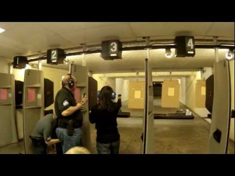 Mary's first shots with her Sig Sauer 250C 9mm