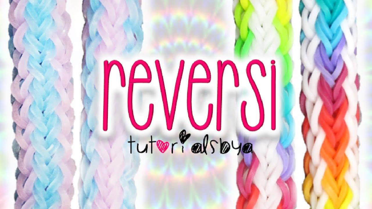 New Reversible Reversi Rainbow Loom Bracelet Tutorial  How To