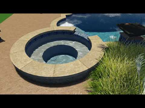 Young Pool Design by Backyard Amenities