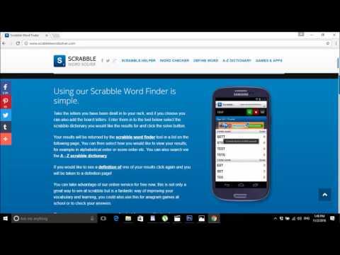 Scrabble Word Finder Website
