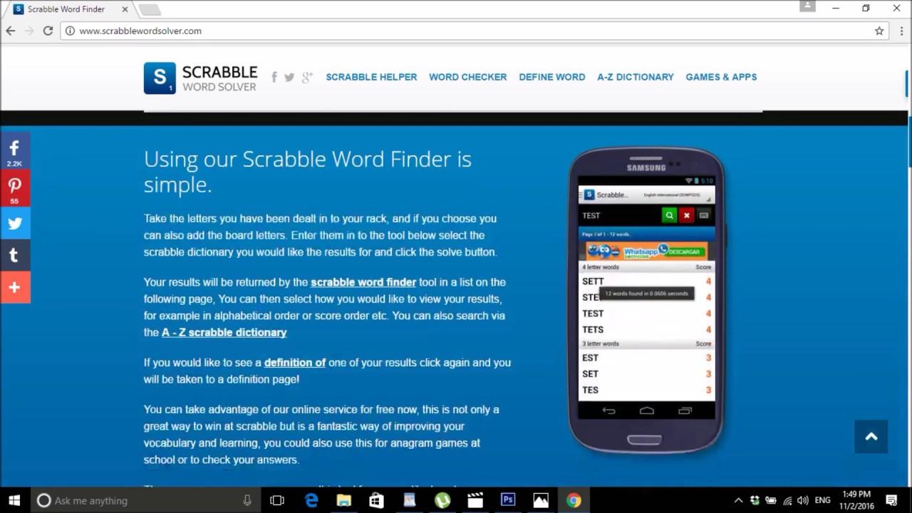 Scrabble Word Finder   Anagram Solver   Scrabble Help