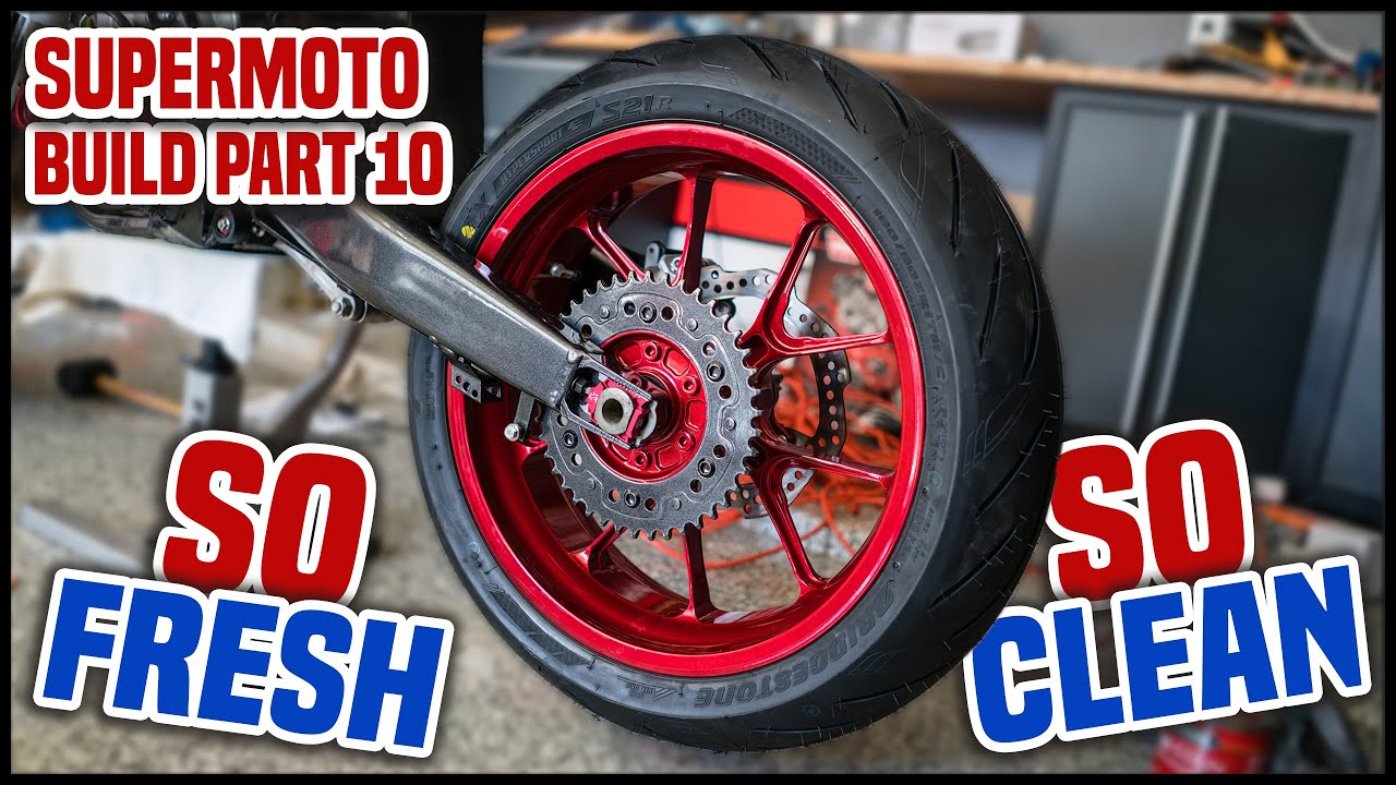 Supermoto Wheels On A Dirt Bike Supermoto Build Part 10 Youtube