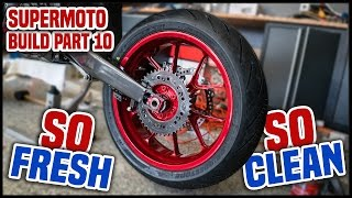 SUPERMOTO WHEELS on a DIRT BIKE! [Supermoto Build Part 10] thumbnail