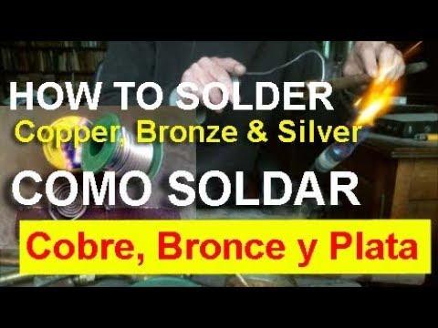 Como soldar cobre bronce y plata con subtitulos youtube for Como soldar cobre
