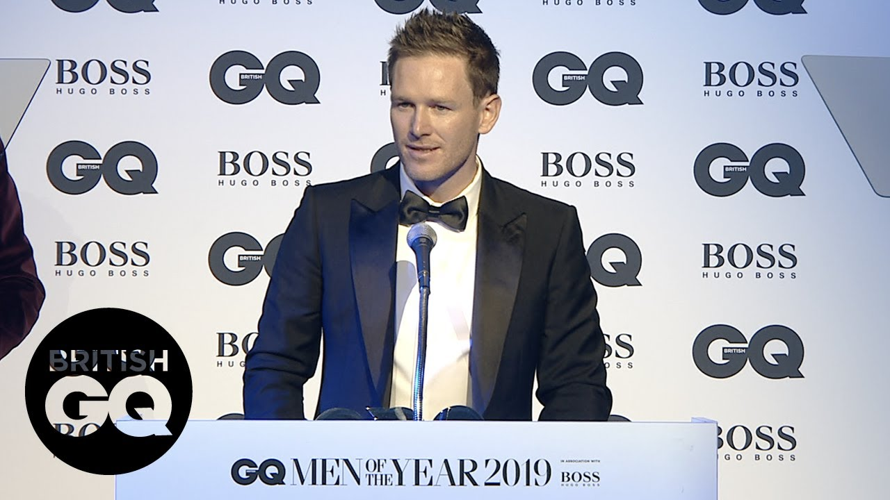 Eion Morgan thanks fans for the support at the GQ Awards | British GQ