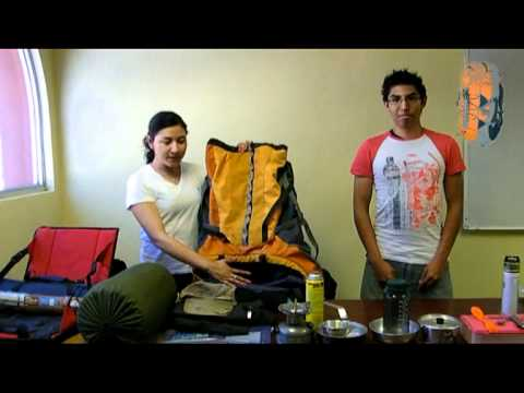 Tutorial como equipar una mochila de camping youtube for Como colocar una mochila de inodoro