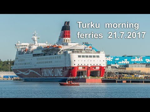 Turku - Morning ferries - Galaxy and Amorella - 21st of July 2017