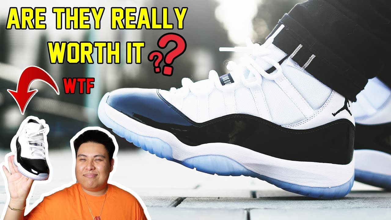 76a8508c04c IS THE 2018 AIR JORDAN 11  CONCORD  REALLY WORTH IT  REVIEW + ON ...