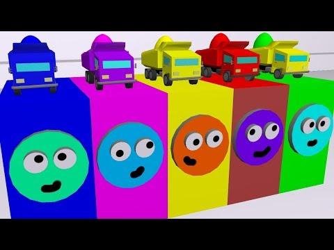 Мультики про машинки для малышей и детей. Учим цвета