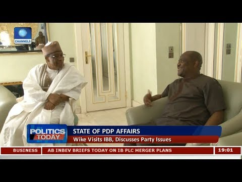 Wike Visits IBB, Discusses Party Issues | Politics Today |