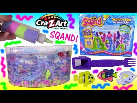 Cra-Z-Art SQAND! Sand 'N Sea Adventure SET! Squash Squiggle Squirt IT! Magically Shapes! SHOPKINS