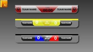 Scoreboard Sport for football Illustrator Tutorial