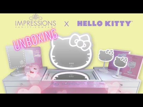 UnBoxing Impressions Vanity Hello Kitty LED Wall Mirror 😍 So Cute ♥️