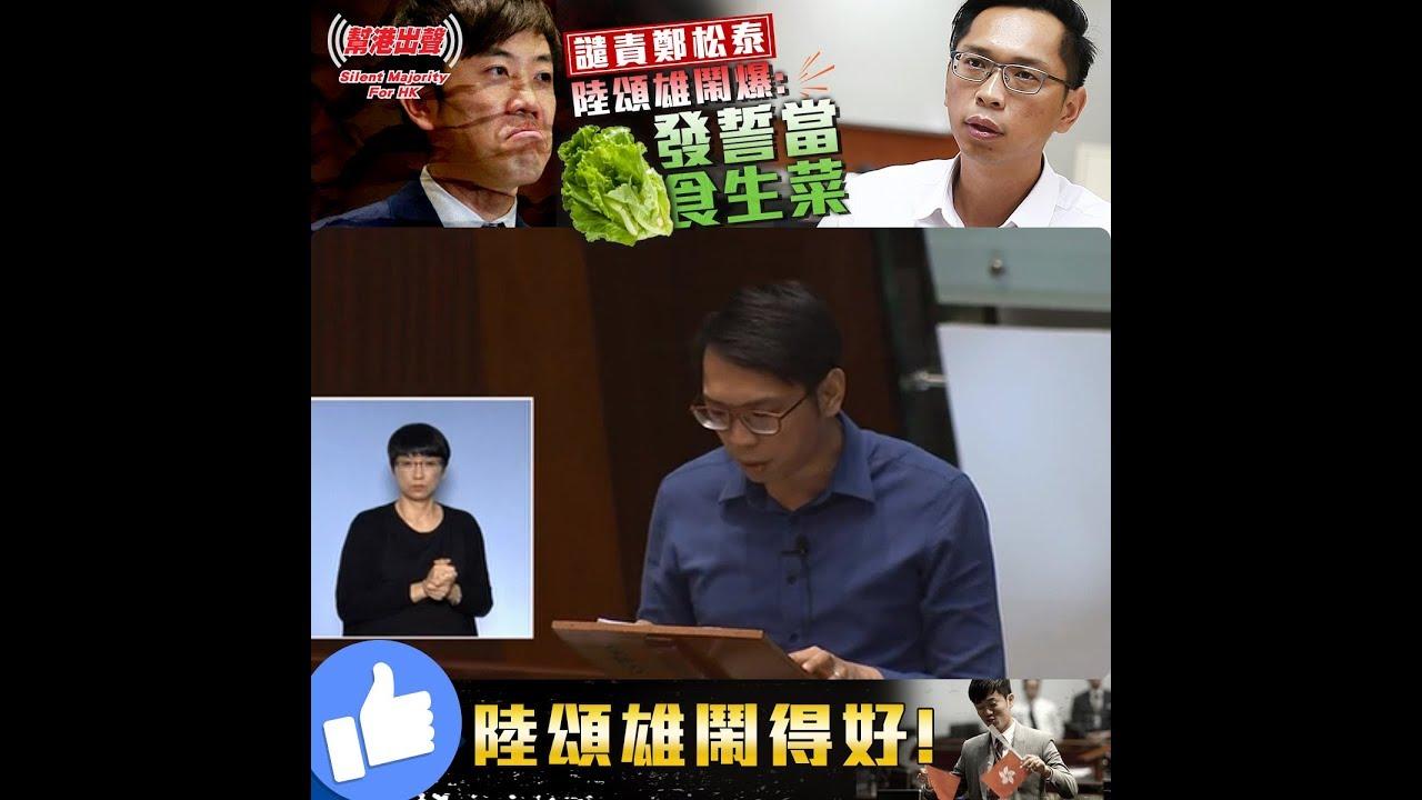 譴責鄭松泰 陸頌雄鬧爆:發誓當食生菜! 陸頌雄鬧得好! - YouTube