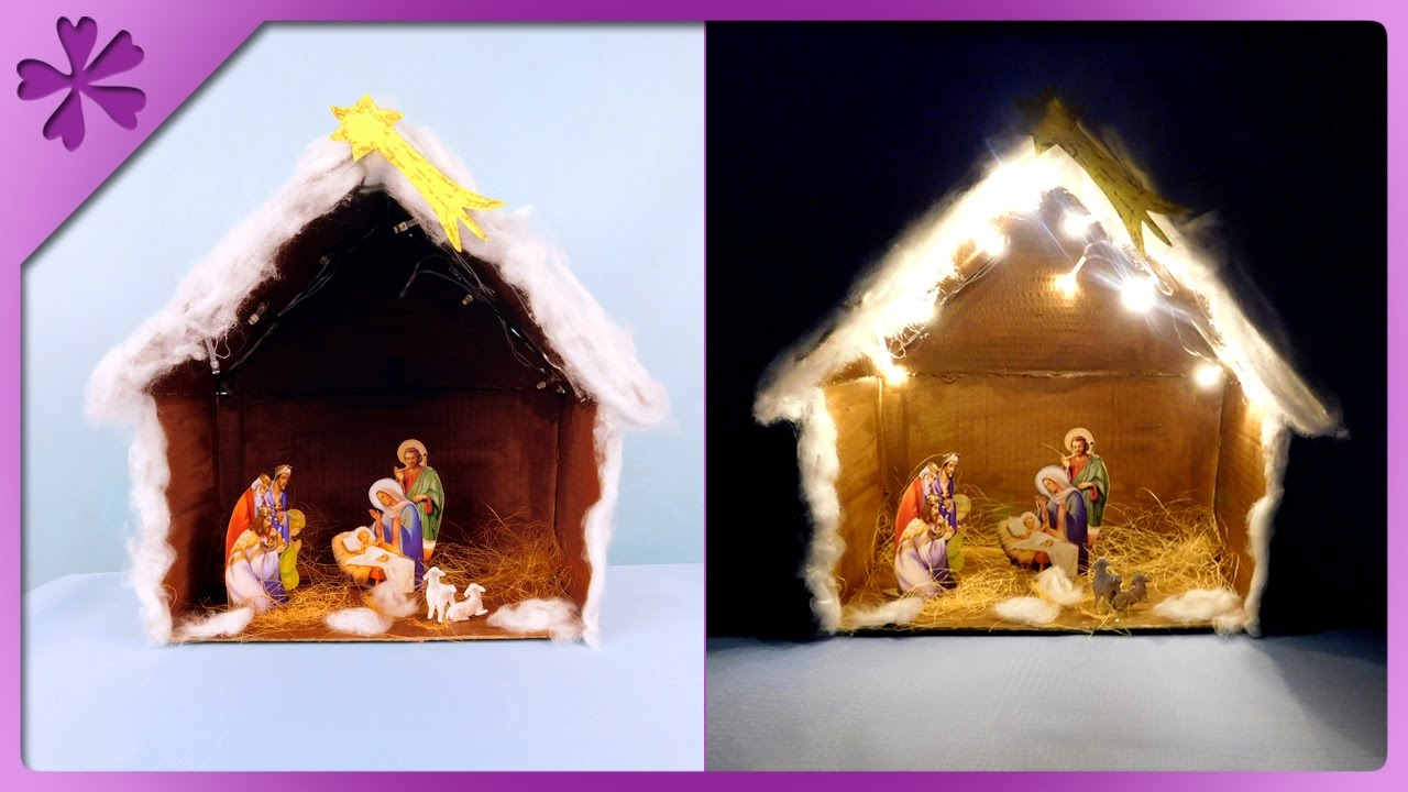 Diy christmas crib with lights eng subtitles speed up 279 youtube solutioingenieria Image collections