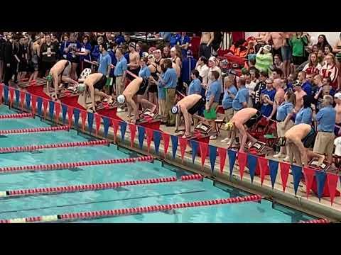 "Thomas ""Quin"" Woods 100yd Breaststroke Consolation Finals Nebraska State Swimming Championship"