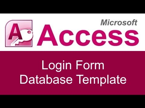 Microsoft Access Login Form Database Template