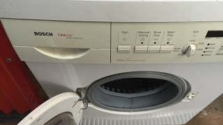 how to clean filter bosch exxcel 1400 express wfo2865