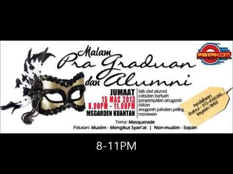Majlis Makan Malam Pra Graduan Alumni 2013 Youtube