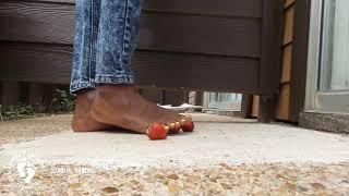 2. Feet crushing strawberries. | #CRUSHFETISH