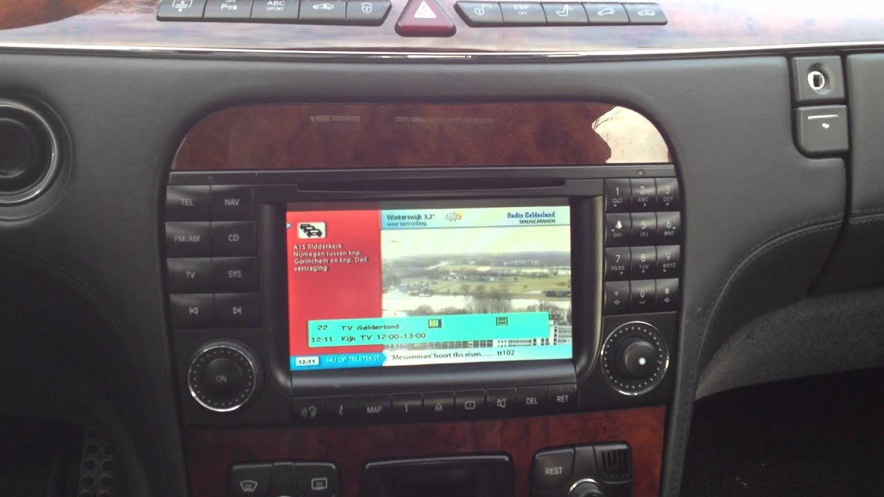 W220 S55 AMG Kompressor met Tv Tuner Made by MbenznL