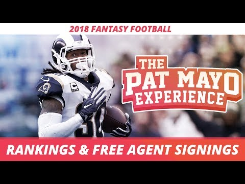 Early 2018 Fantasy Football Rankings and NFL Free Agent Spin