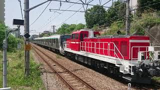 DD200牽引東急2020系甲種輸送@古淵駅