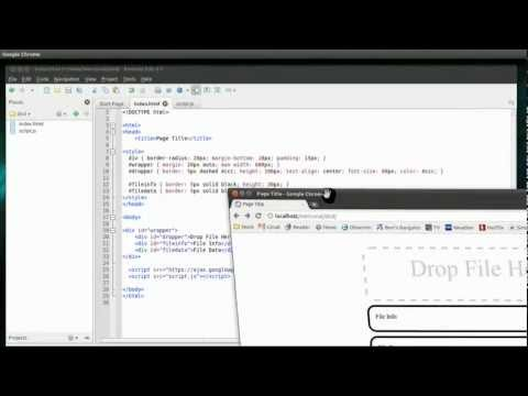 Drag and Drop File Upload ala ArcGIS Online with HTML5 File API