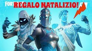 🔴 NATALIZIE SKIN REGALO TO 50 VIEWERS!! NATALIZIO REGALO!!!! Live Fortnite!
