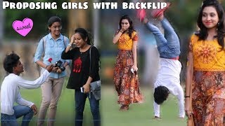 Proposing Girls With Back-Flip |Girls Epic Reactions|Funky Tv|