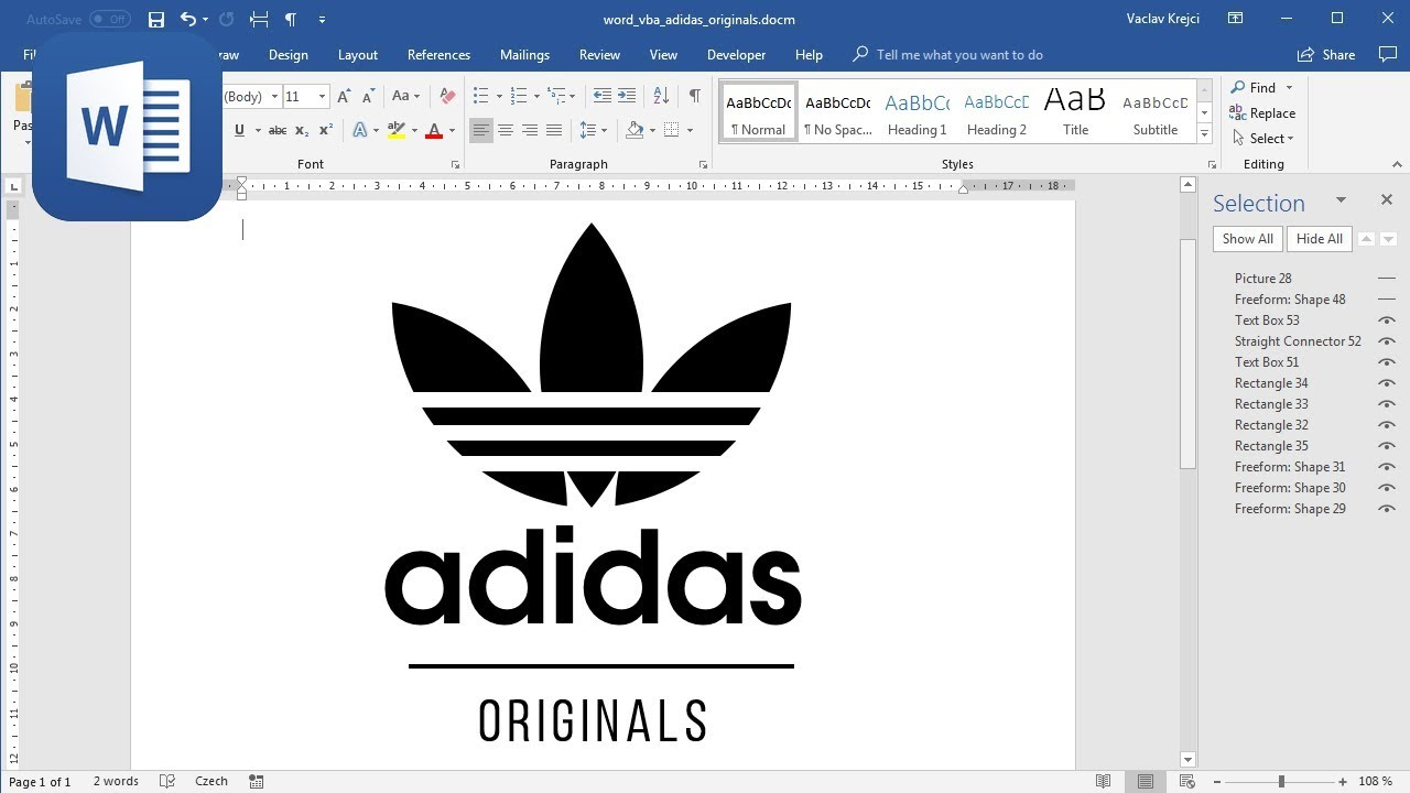 Enseñando ayuda excursionismo  How to make Adidas Originals logo in Microsoft Word - YouTube