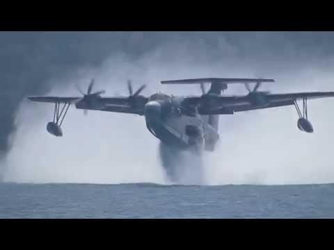 飛行艇US-2 発進離水