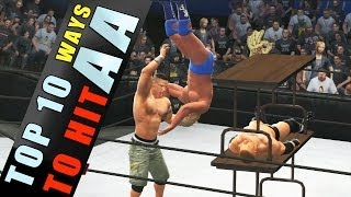 WWE 2K14 TOP 10 Ways to Hit Attitude Adjustment!! HD